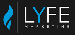 Logo of LYFE Marketing, a social media management company